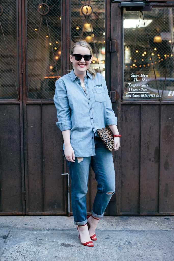 wit and whimsy I how to style boyfriend jeans