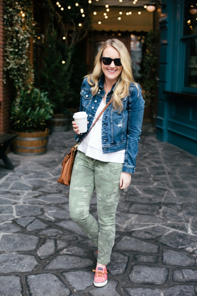 meghan donovan I styling denim and camo I wit & whimsy