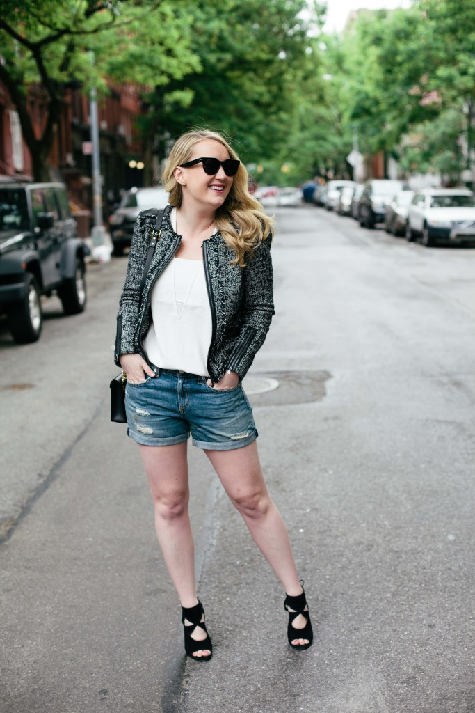 wit & whimsy I how to style denim shorts