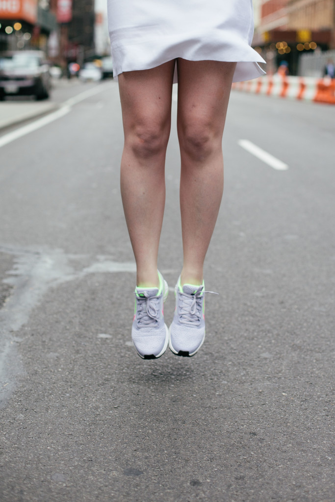 wit & whimsy I sneakers and dress