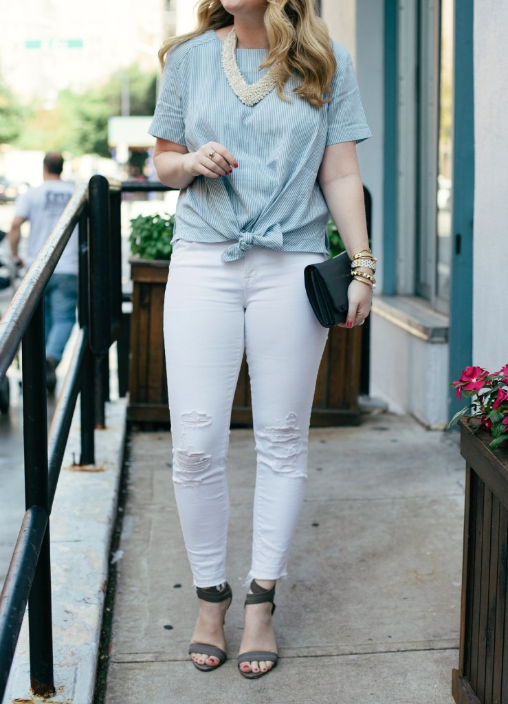 meghan donovan I anthropologie tie blouse
