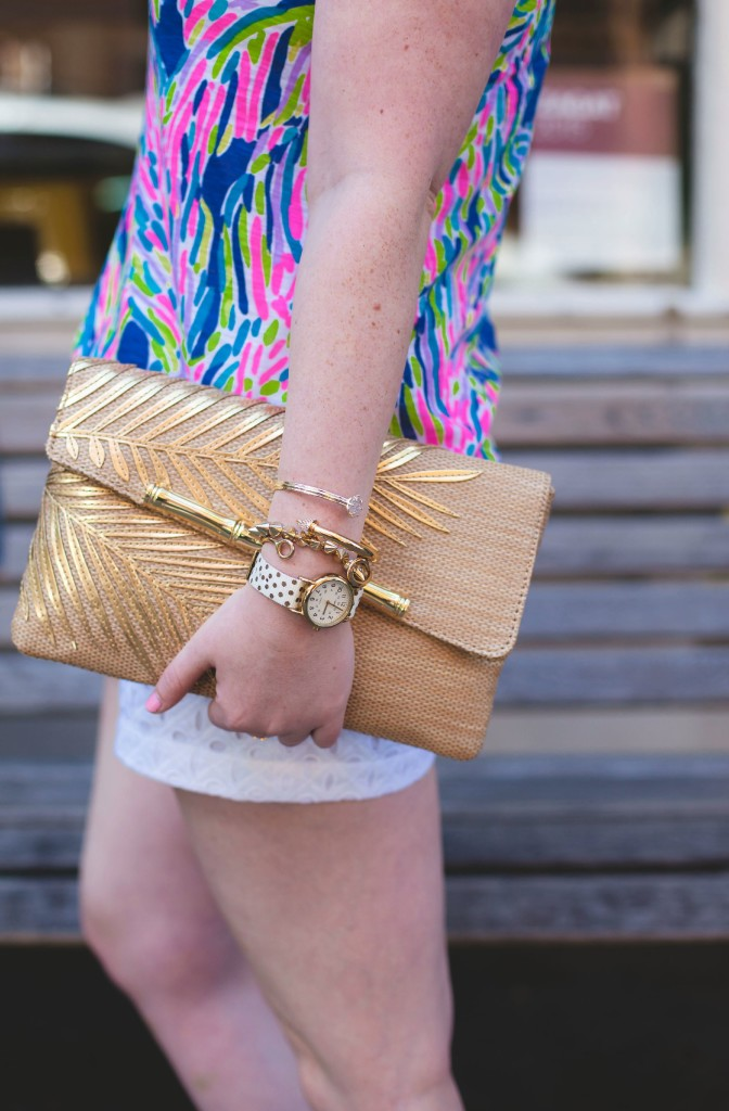 lilly pulitzer coco straw clutch I wit & whimsy