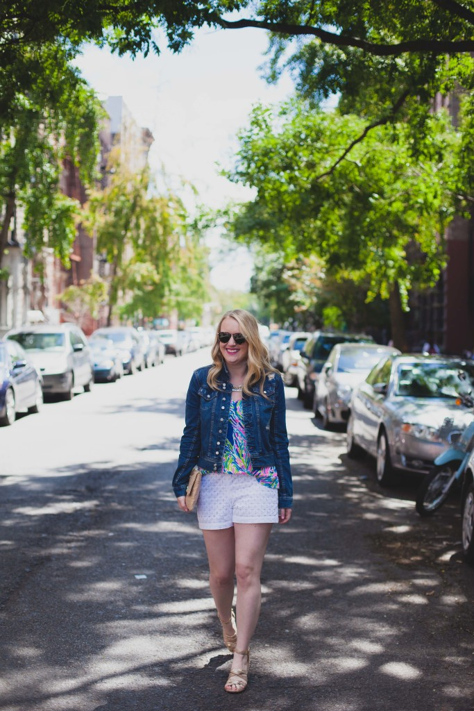 lilly pulitzer top I club monaco shorts I wit & whimsy