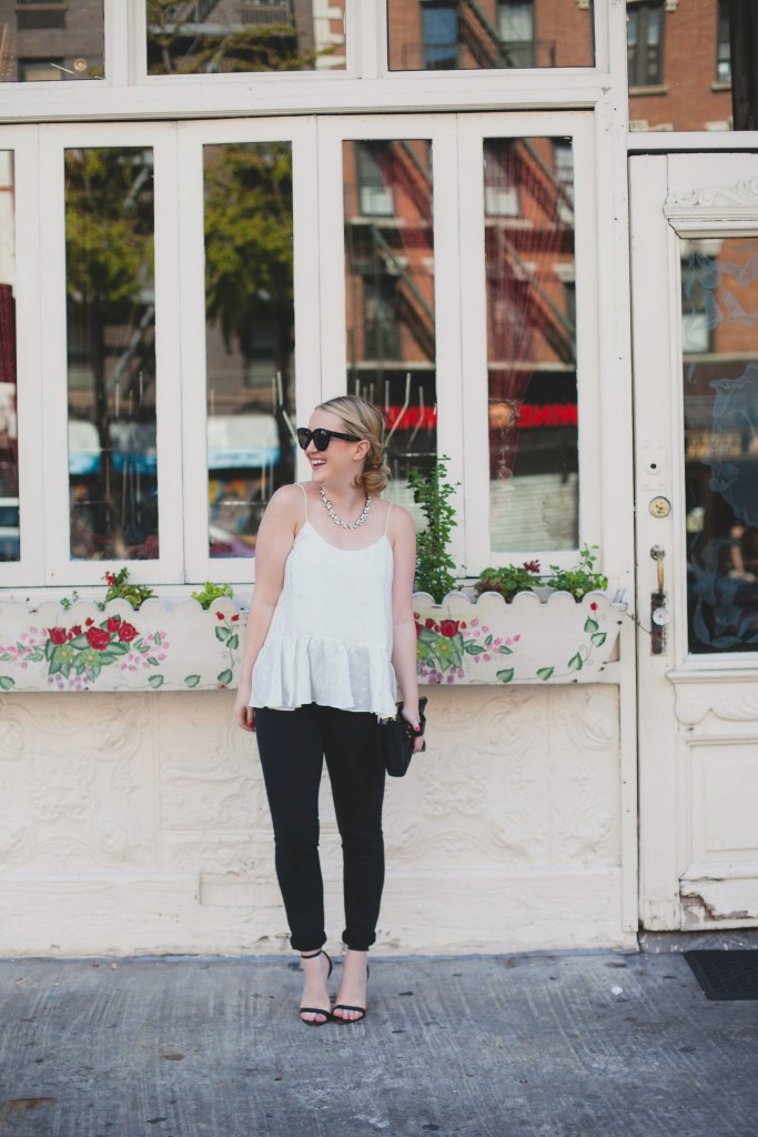 wit & whimsy I east village I silk top and denim