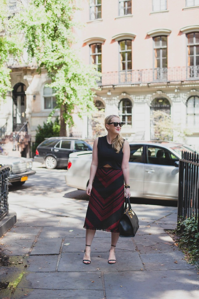 Fall Style I Forever 21 Skirt I Aritzia Crop Top I wit & whimsy
