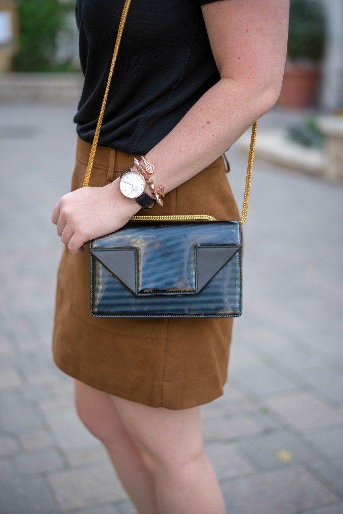 Suede Skirt + Saint Laurent Bag I wit & whimsy