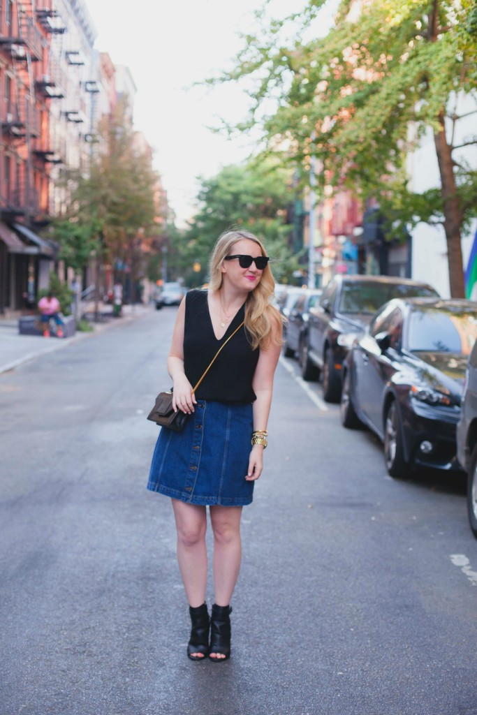 black and denim I meghan donovan I wit & whimsy