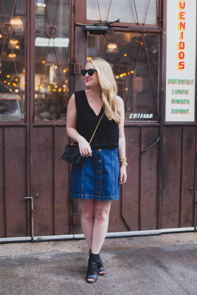 topshop button down skirt I wit & whimsy