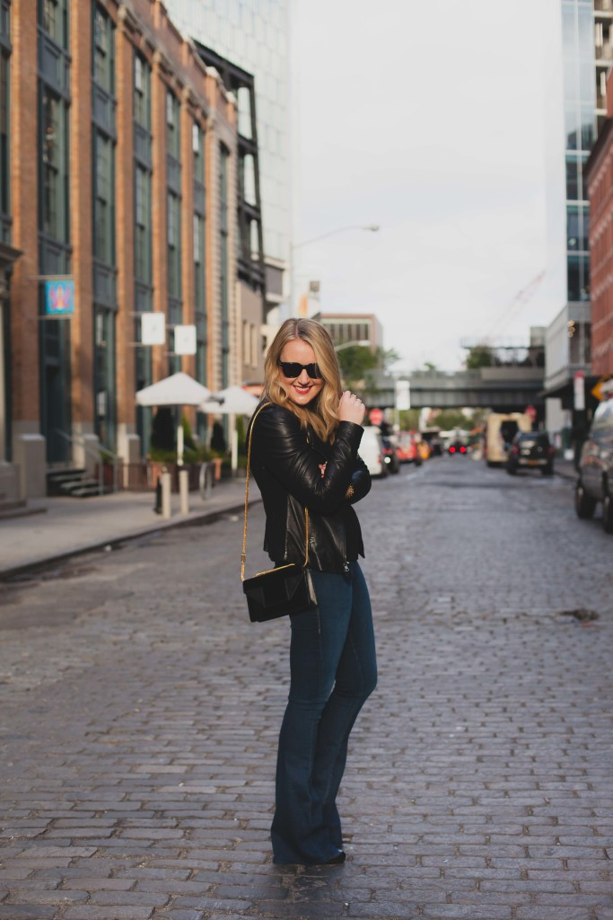 Flared Jeans I Meatpacking NYC I wit & whimsy