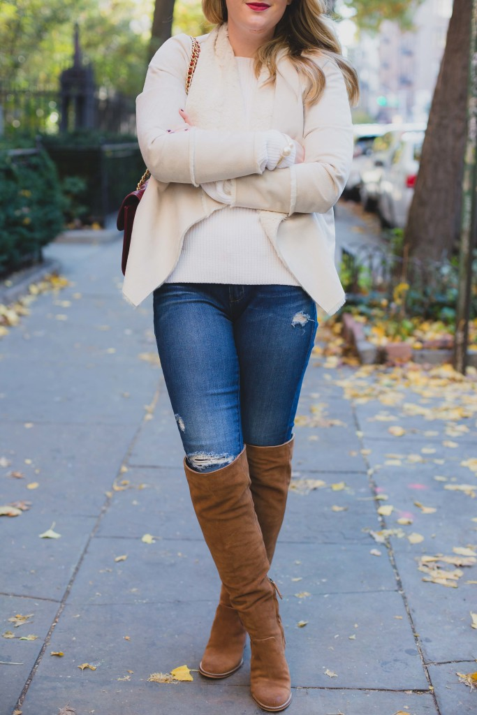 Blank NYC Denim I Dolce Vita Over the Knee Boots I wit & whimsy