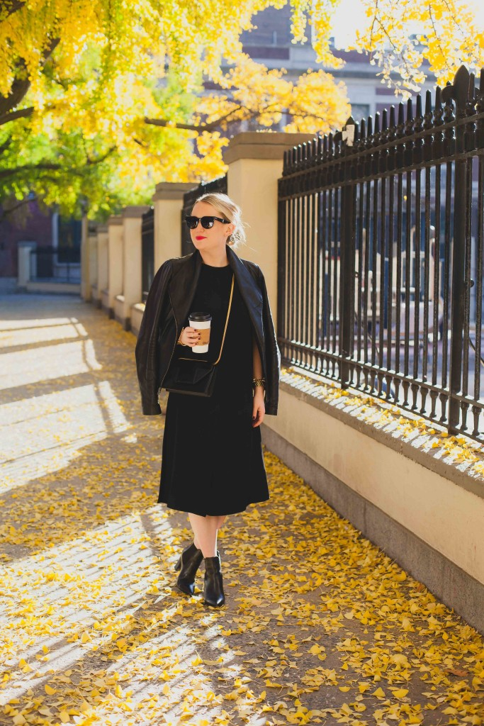 West Village Fall Mornings I vince leather jacket I wit & whimsy