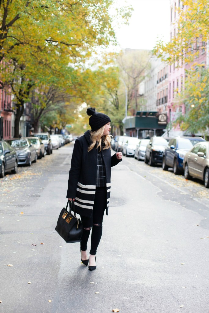 Stripes & Plaid I wit & whimsy I Maison Scotch Coat