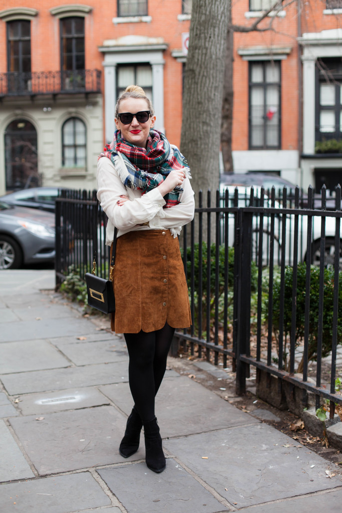 Plaid and Suede I wit & whimsy