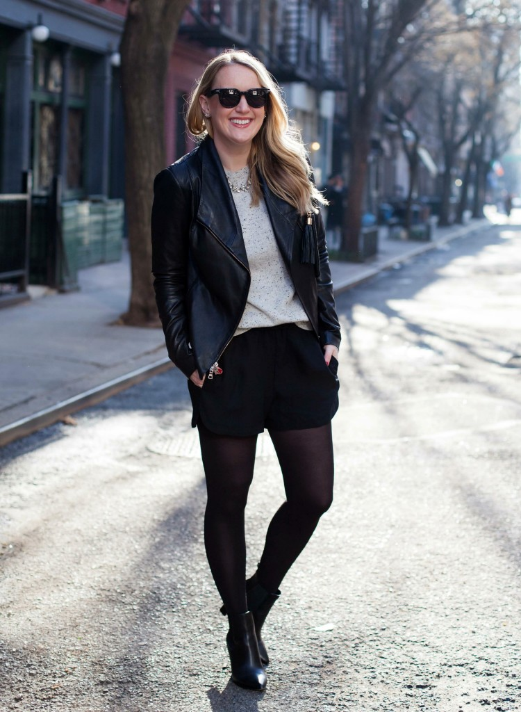 How to Style Silk Shorts in Winter