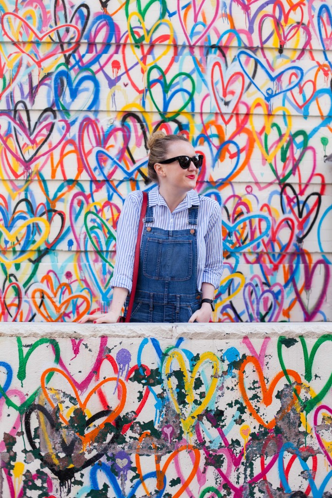 Madewell Overalls I Striped H&M Shirt