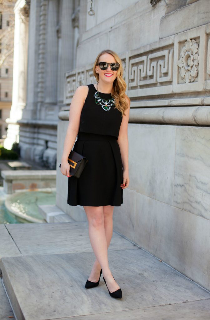 Black Halo Crop Top Dress I Kate Spade Heels