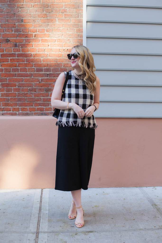 Frayed Check Top I Culottes Jumpsuit I wit & whimsy