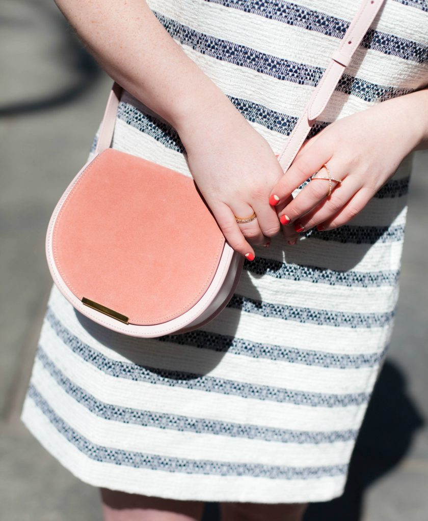 Cuyana Saddle Bag in Rose