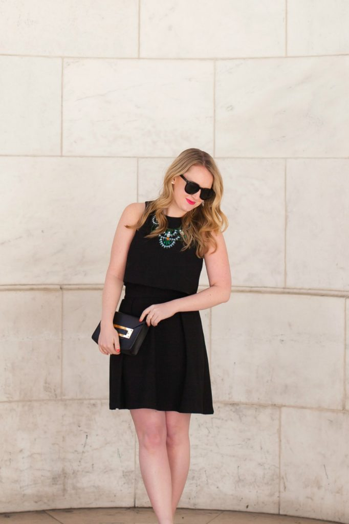 Two Piece Little Black Dress