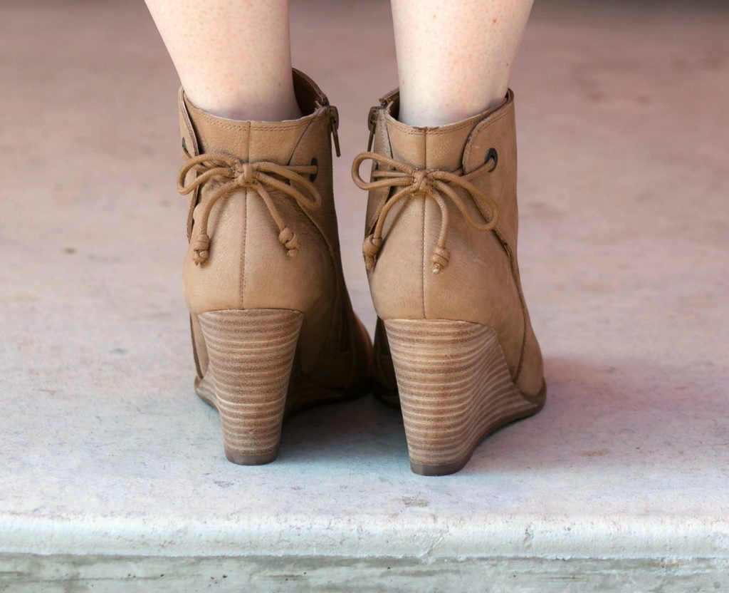 Wedge Booties with Bows