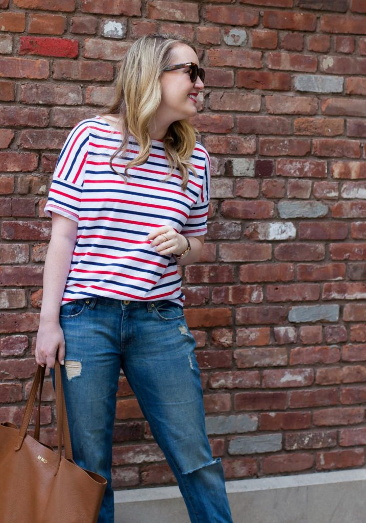 Slouchy Stripe Tee I wit & whimsy