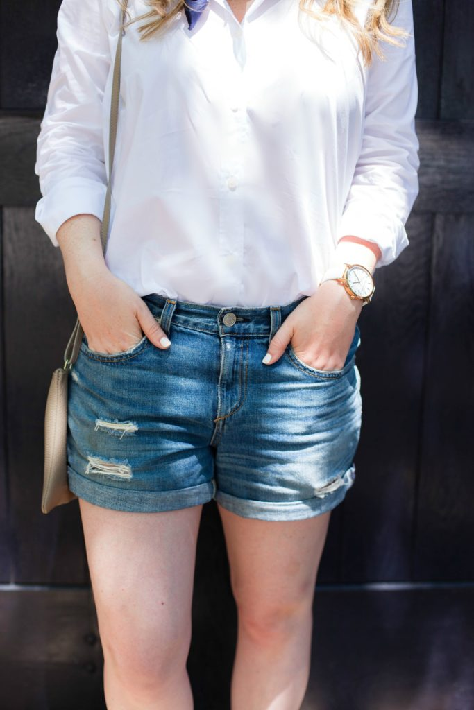 Button Down I Denim Shorts