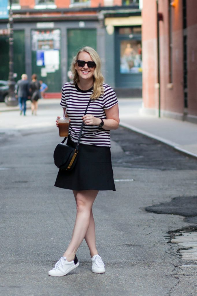 Skirt + Sneakers I wit & whimsy