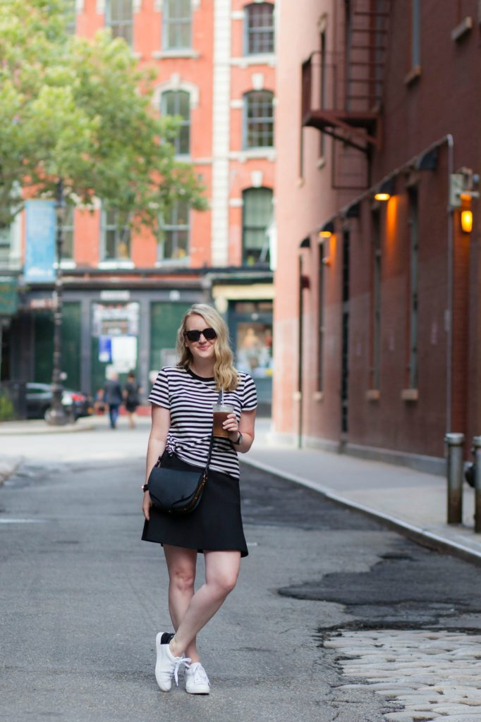 wit & whimsy I Striped Tee + Sneakers