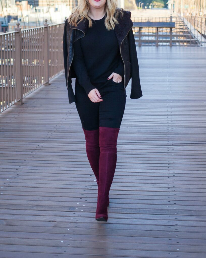 Burgundy Over the Knee Boots I @meghandono