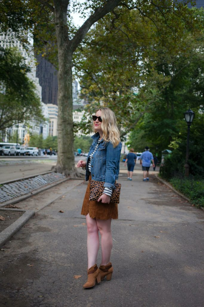 Suede Skirt I Fall Style