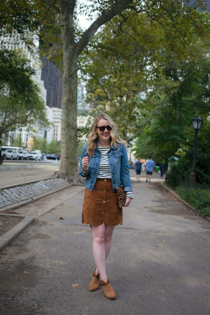 Fall Style I Suede Skirt