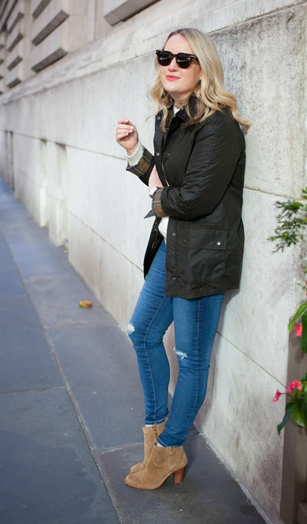 Barbour Jacket on Meghan Donovan of wit & whimsy