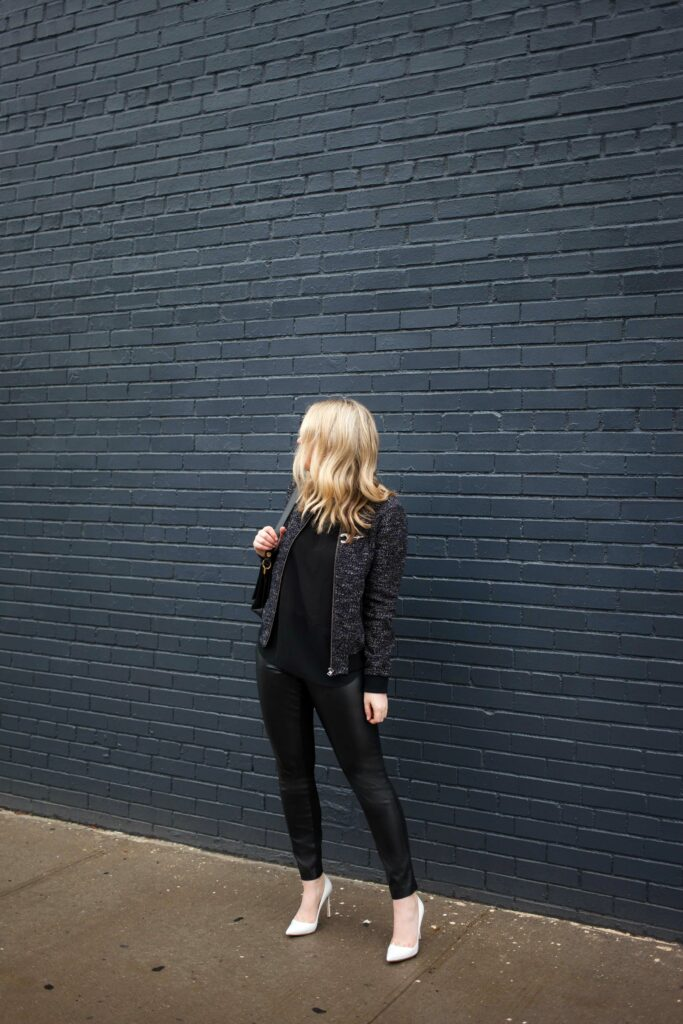 Styling Faux Leather Leggings I wit & whimsy