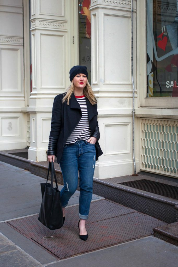 Styling Pumps with Boyfriend Jeans