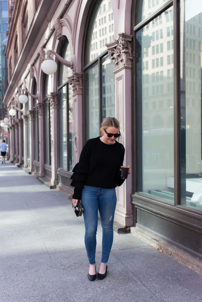 The Everlane Day Heel on blogger Meghan Donovan of wit & whimsy