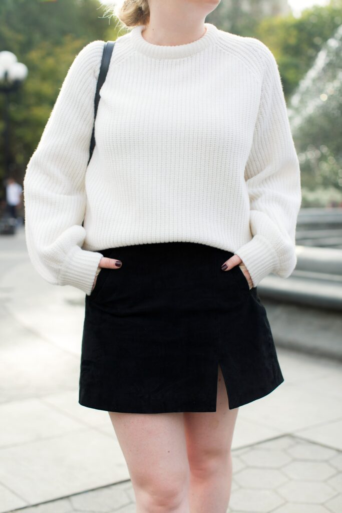 Suede Mini Skirt