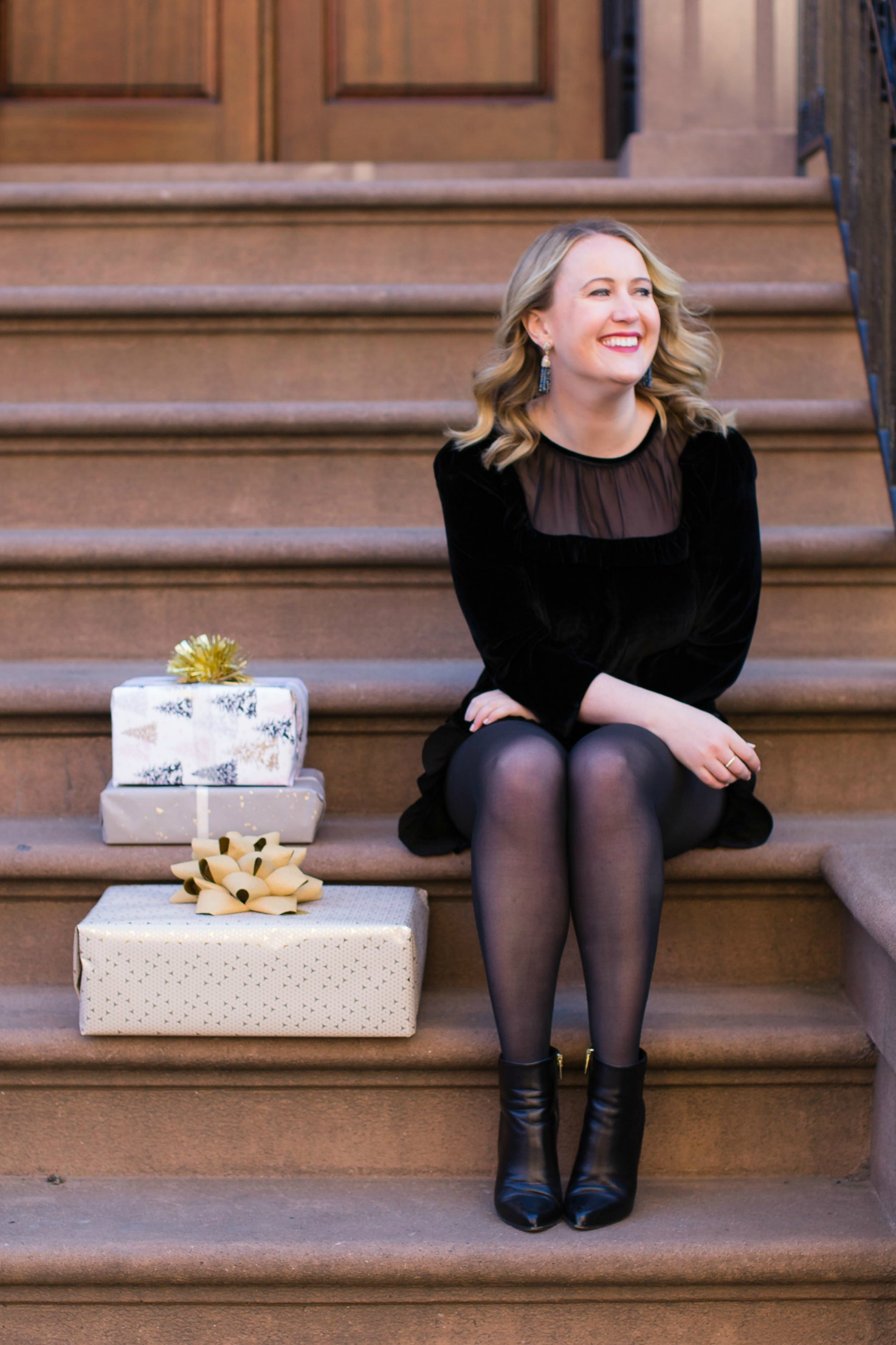 A Holiday Ready Velvet Romper I Meghan Donovan of wit & whimsy