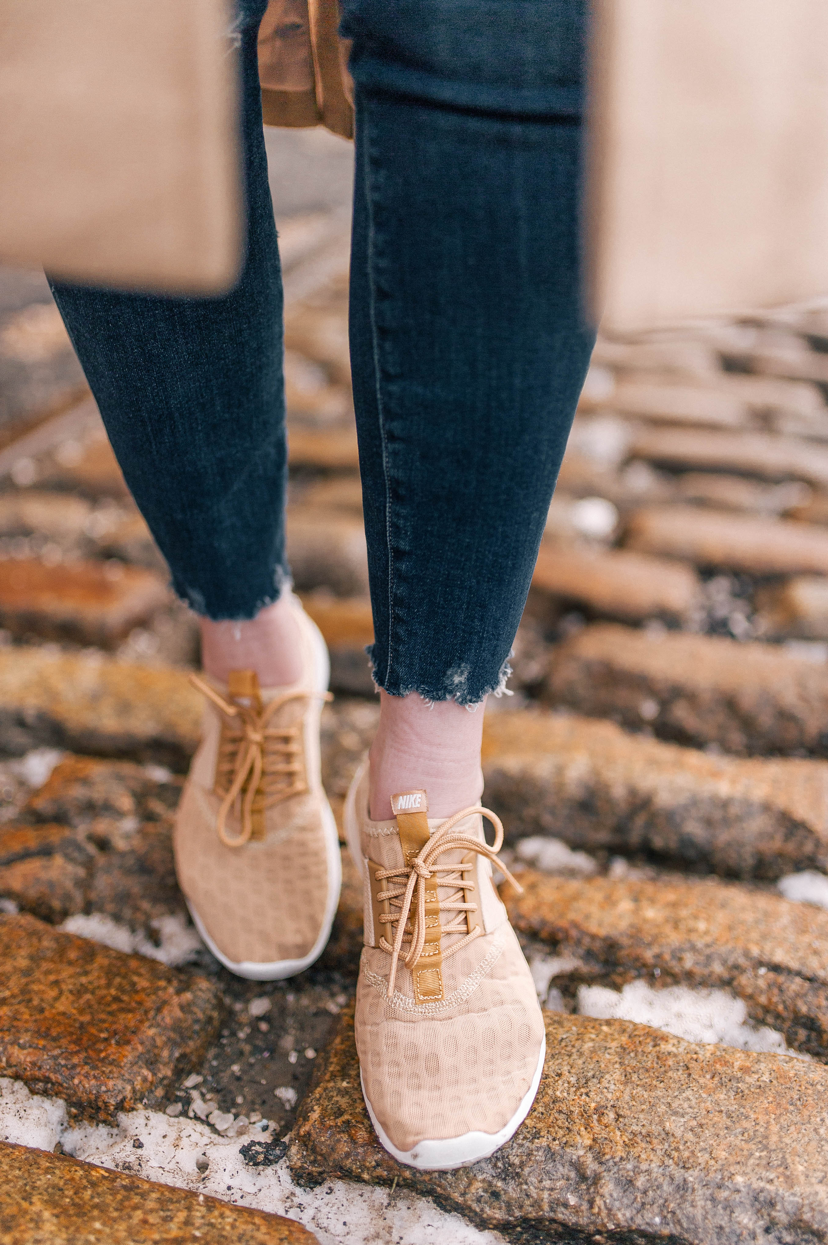 Gold Nike Sneakers I wit & whimsy