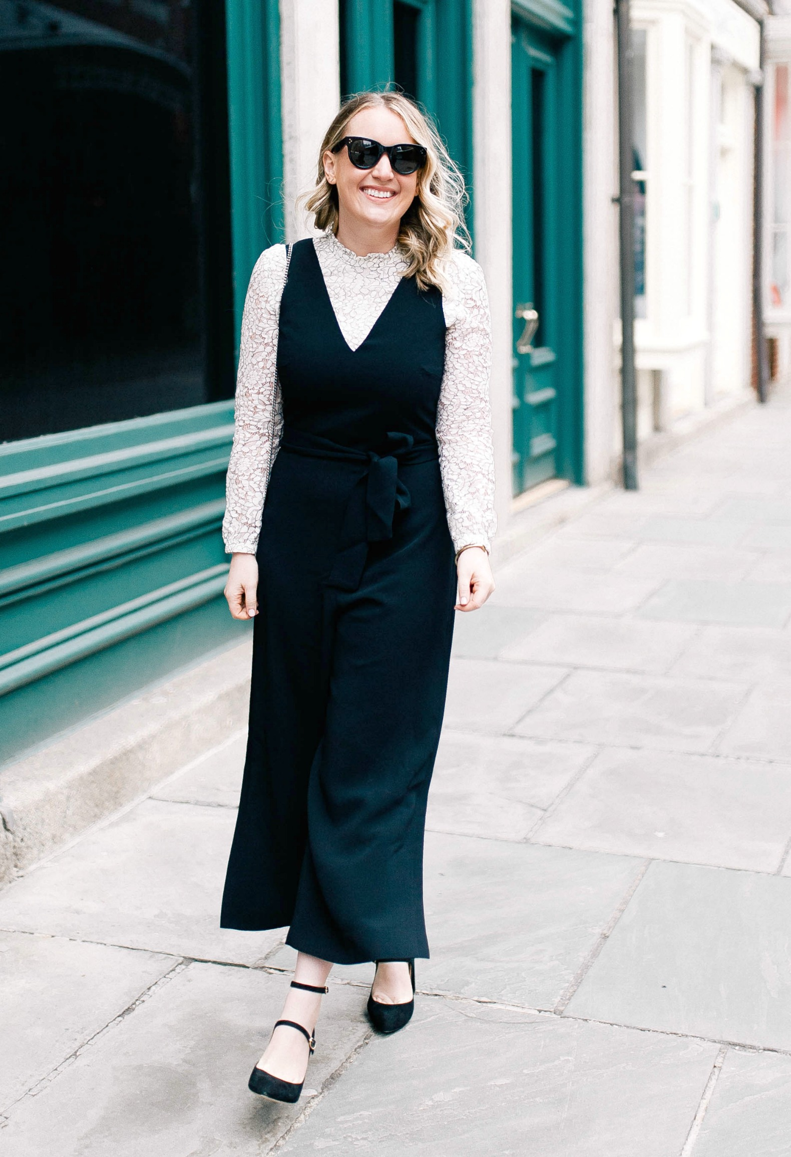 Club Monaco Jumpsuit on Meghan Donovan of wit & whimsy