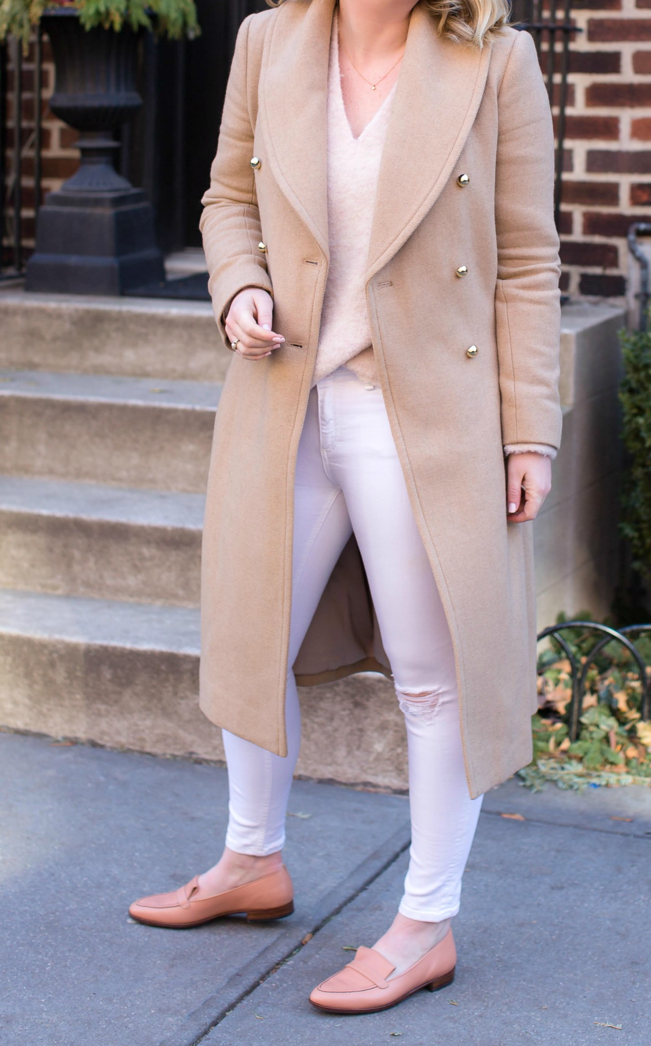 Styling White Jeans in Winter I wit & whimsy