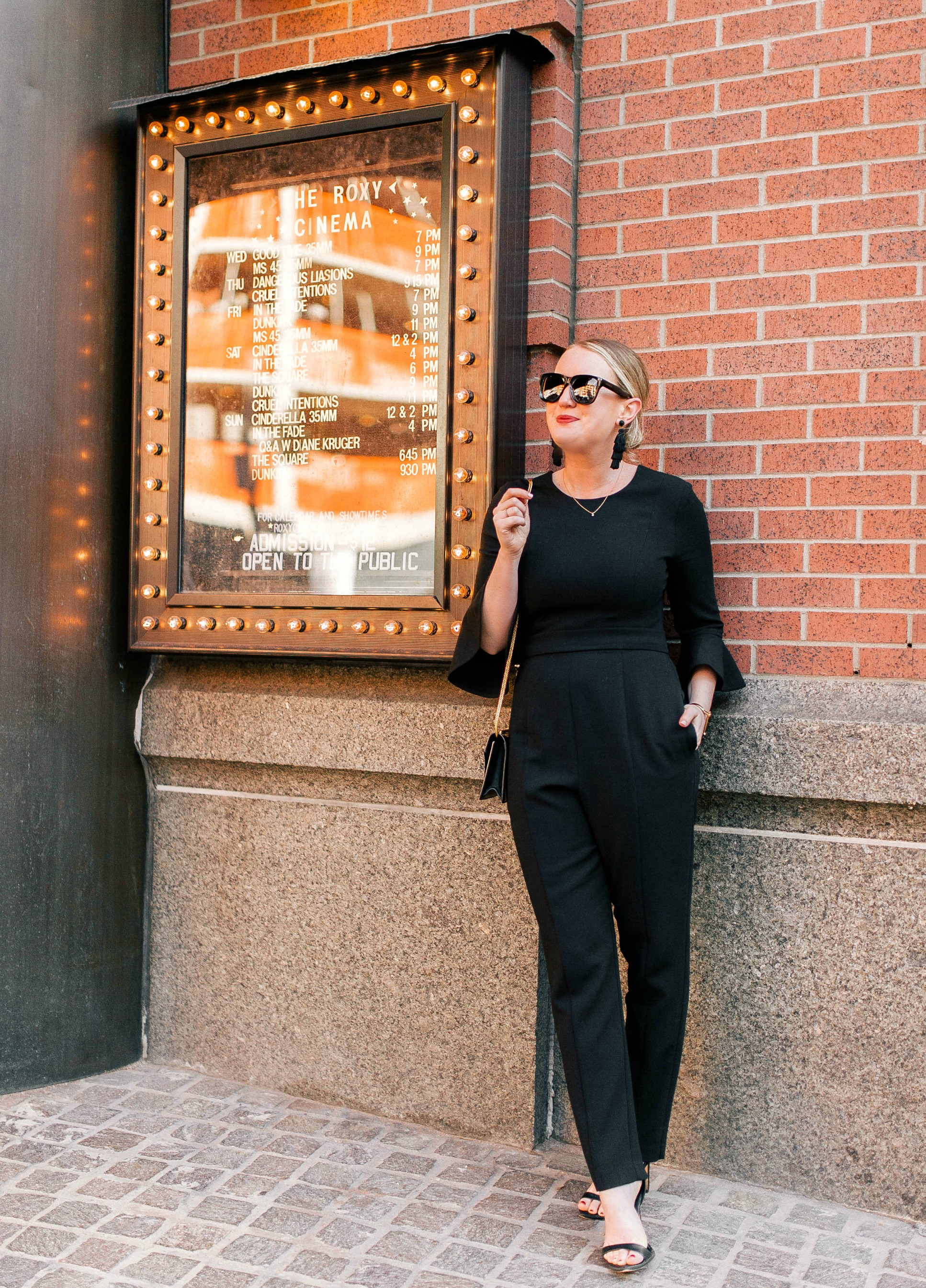 Black Halo Jumpsuit on Meghan Donovan of wit & whimsy