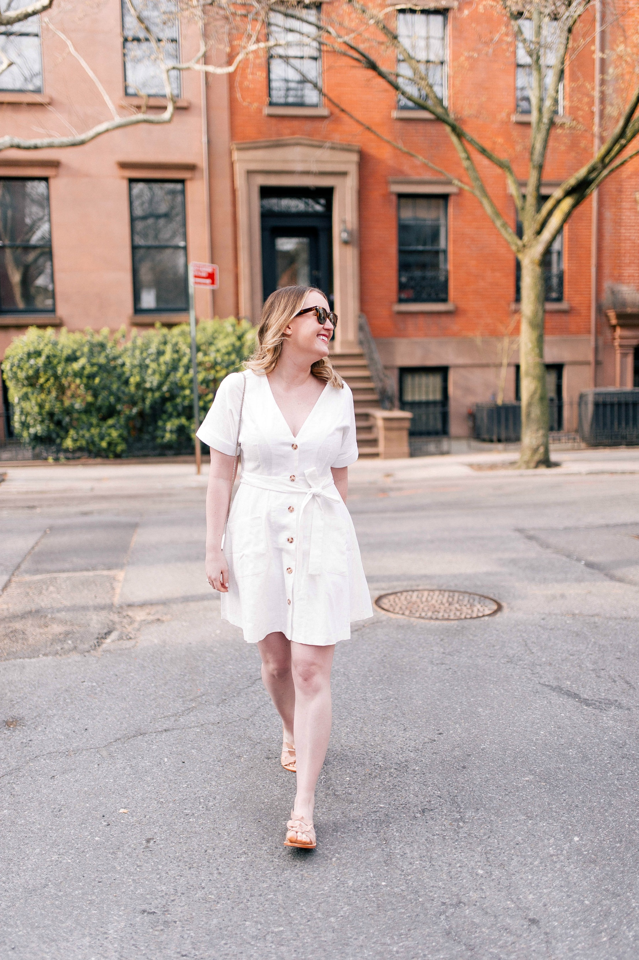 Little White Linen Dress I wit & whimsy