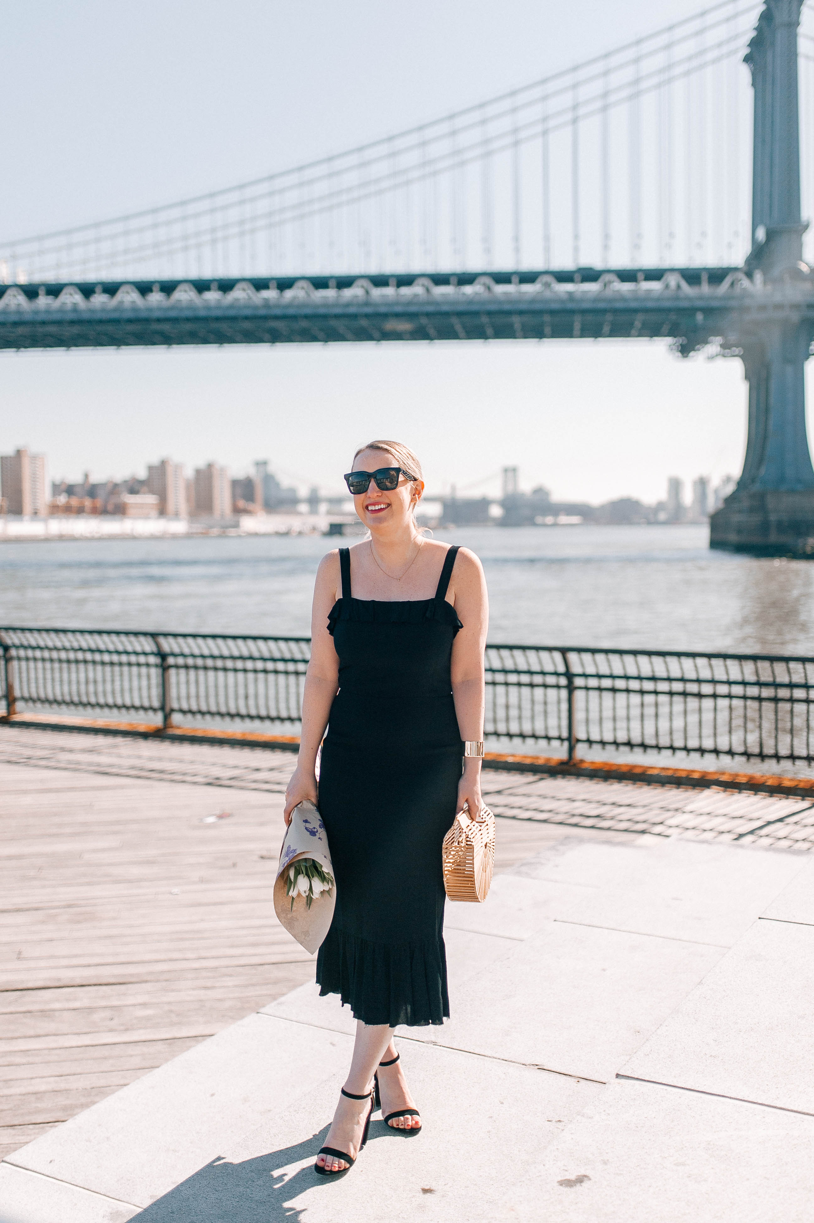 Meghan Donovan of wit & whimsy wears a Reformation dress perfect for date night