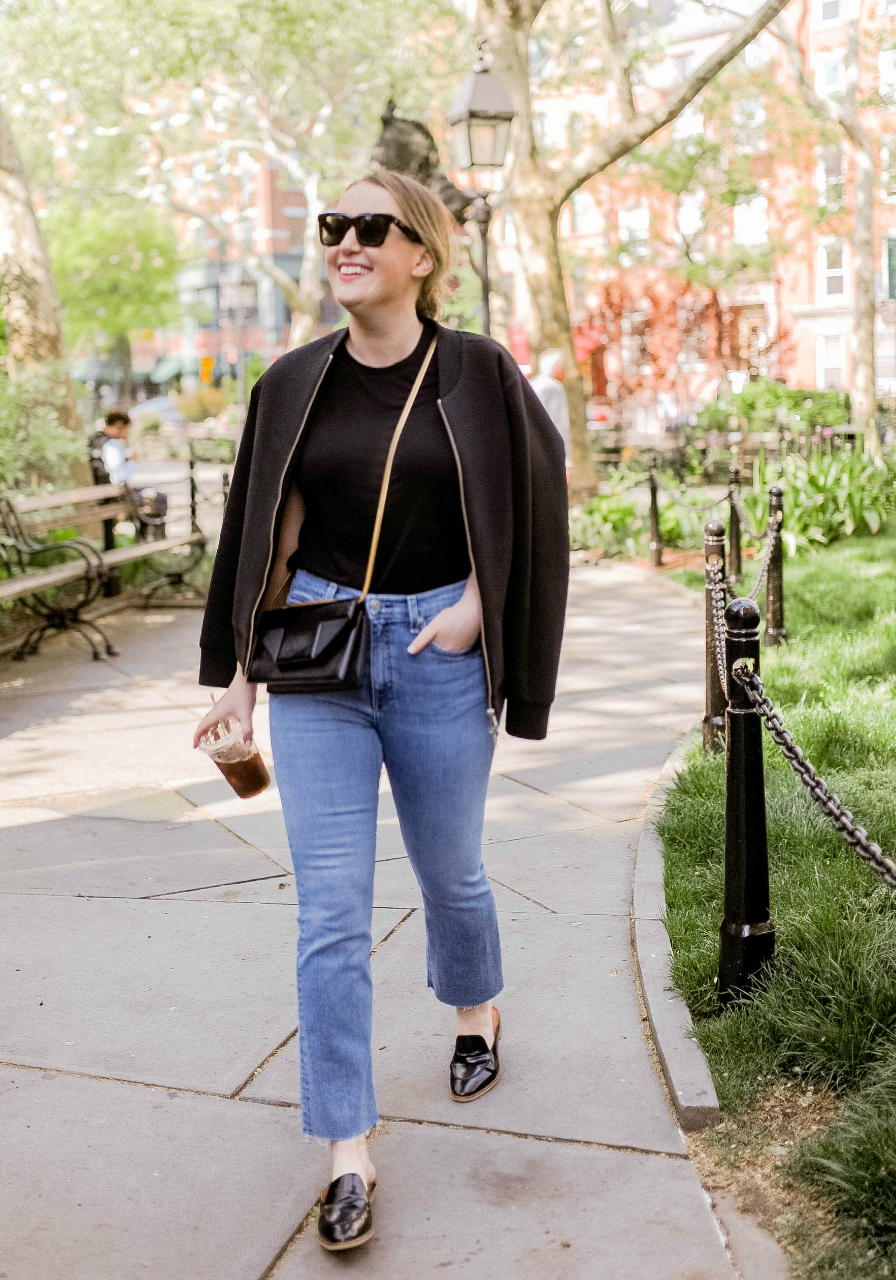 Madewell Bodysuit with Rag & Bone high rise jeans on Meghan Donovan of wit & whimsy