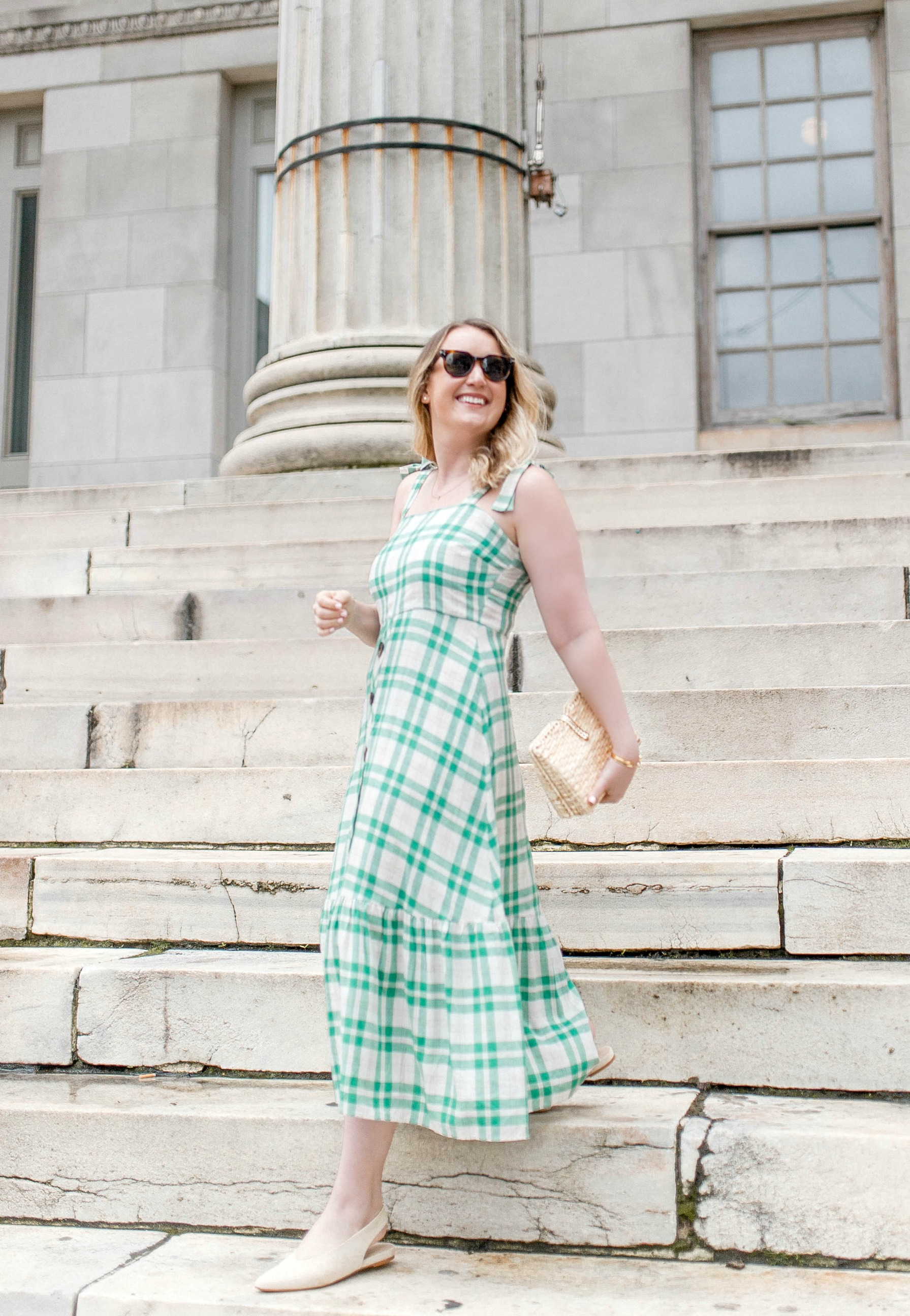Green Check Dress I wit & whimsy