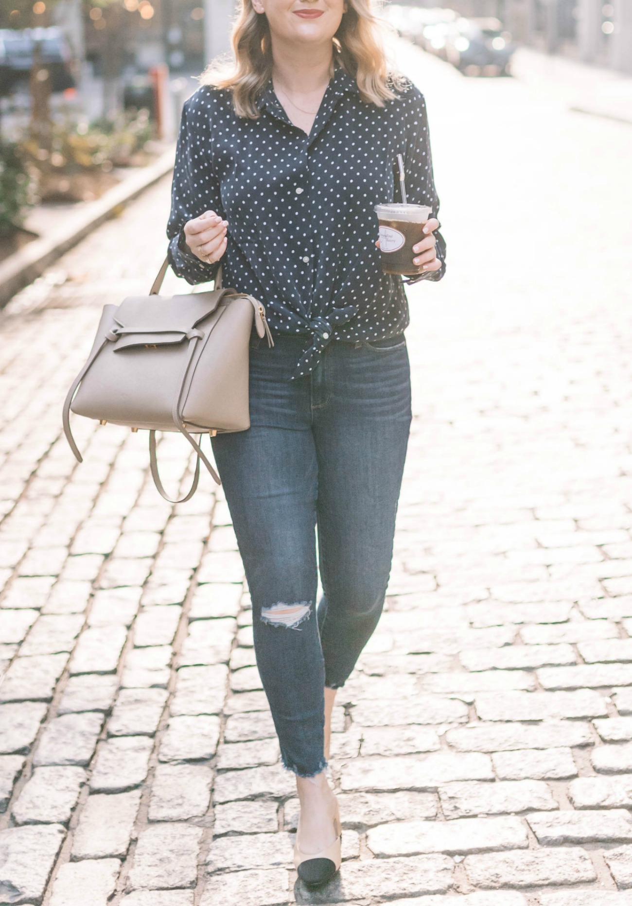 Everlane Polka Dot Silk Shirt I wit & whimsy