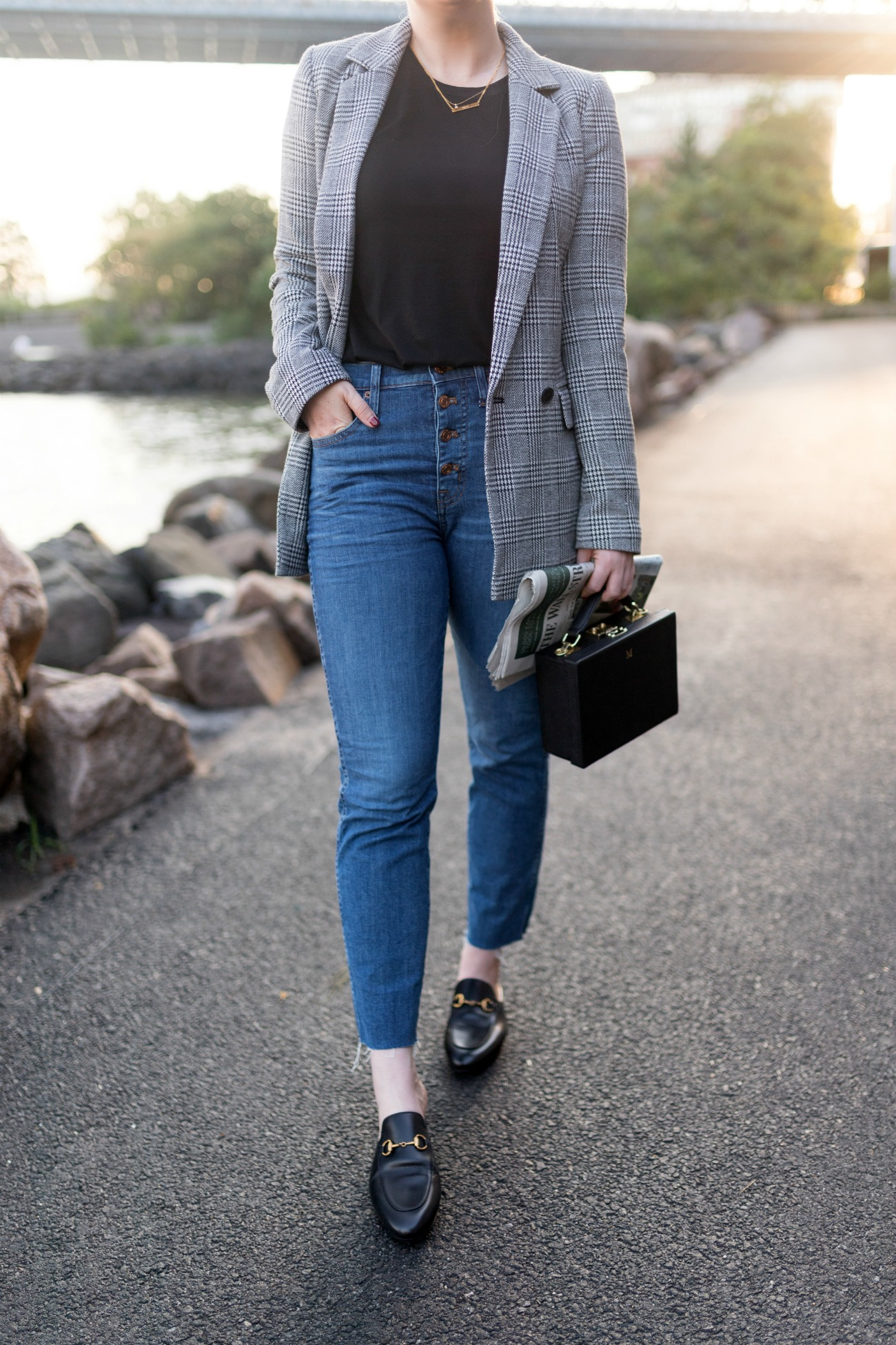 Plaid Blazer + Loafers I wit & whimsy