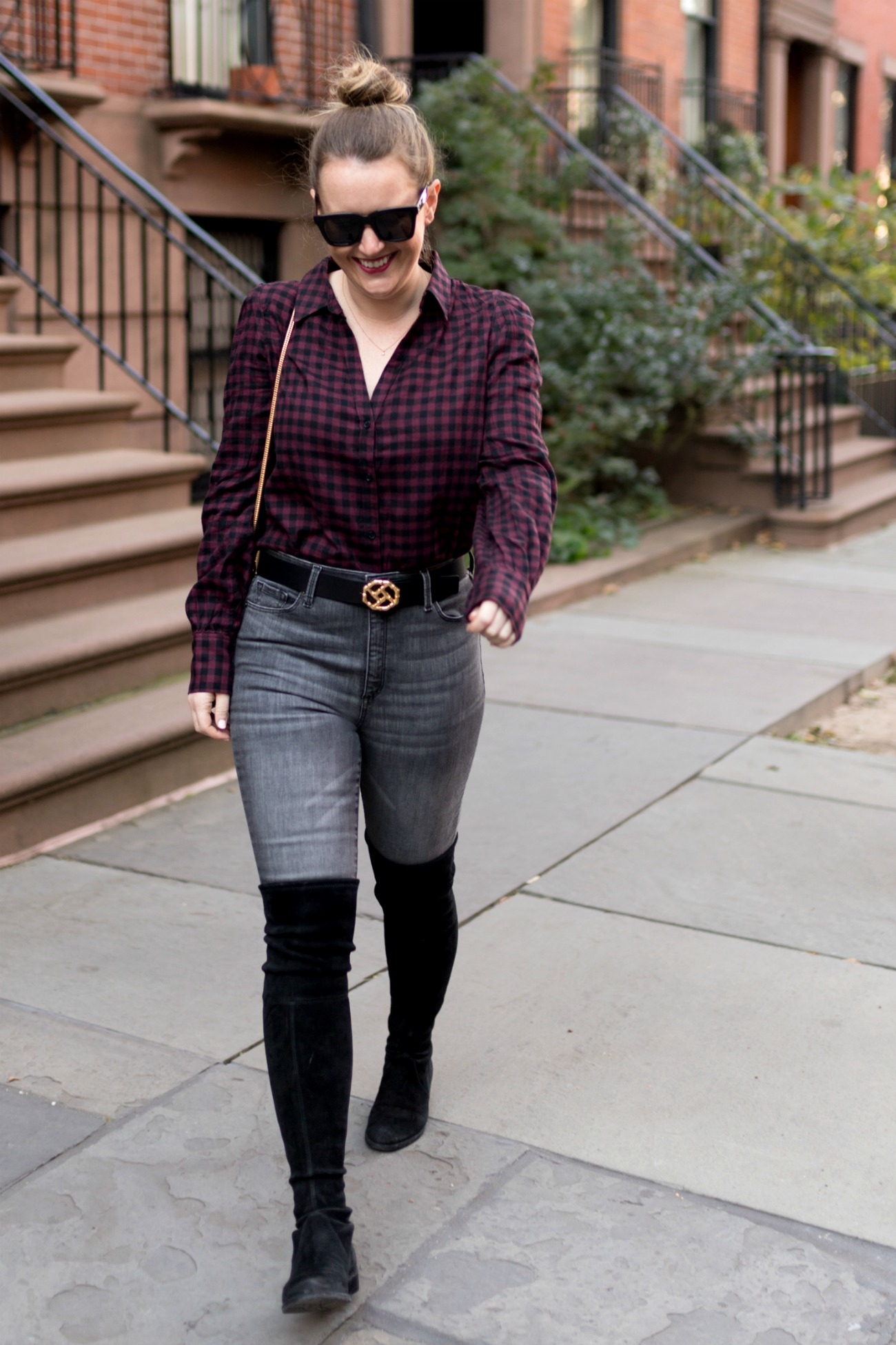 Fall Feminine Plaid Shirt I wit & whimsy