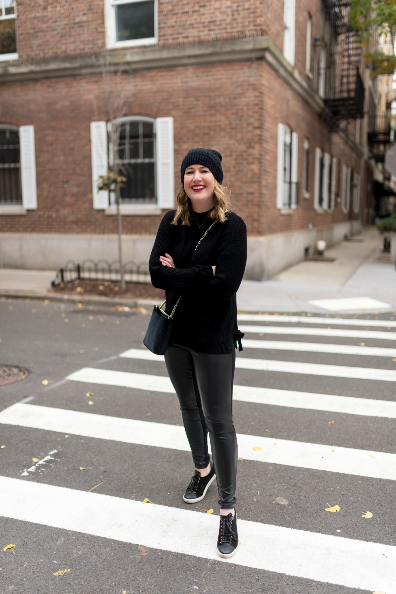 Leather Leggings Styled Casually I wit & whimsy