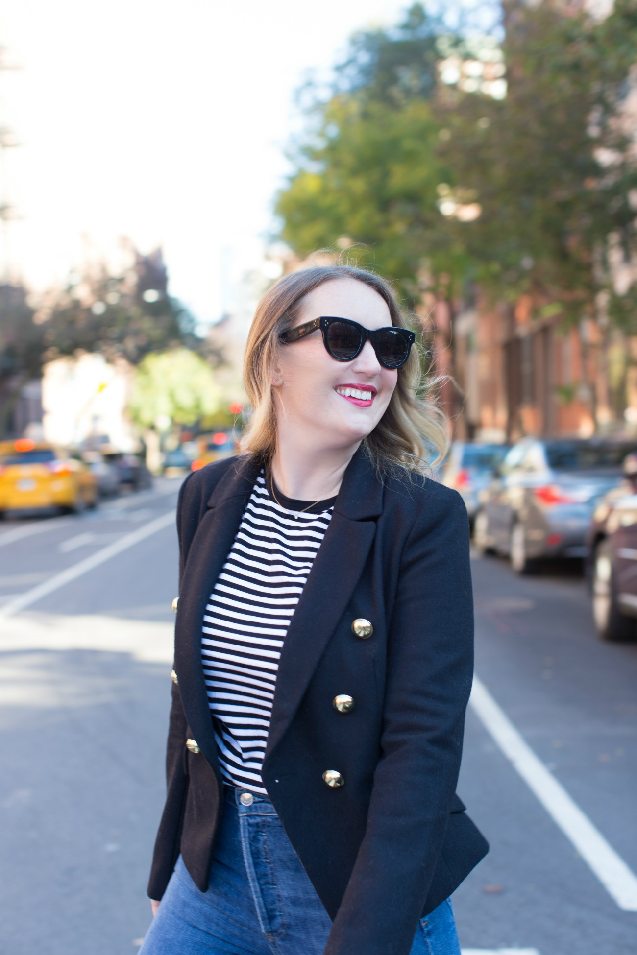 Stripes + Blazer